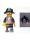 Minifig No: tls023  Name: Lego Brand Store Male, Pirate Captain Brickbeard - Pleasanton
