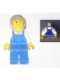 Minifig No: tls024  Name: Lego Brand Store Male, Blue Overalls - Pleasanton