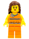 Minifig No: tls029  Name: Lego Brand Store Female, Orange Halter Top - Toronto Fairview