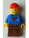 Minifig No: tls031  Name: Lego Brand Store 2012 Male - Red Brick Hoodie