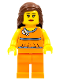 Minifig No: tls054  Name: Lego Brand Store Female, Orange Halter Top - Overland Park