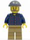 Minifig No: tls073  Name: Lego Brand Store Male, Plaid Button Shirt, Dark Tan Legs (no back printing) {München}
