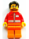 Minifig No: tls085  Name: Lego Brand Store Male, Post Office White Envelope and Stripe - Toronto Yorkdale