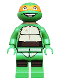 Minifig No: tnt012  Name: Michelangelo, Grin