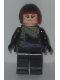 Minifig No: tnt047  Name: Karai - Scarf and Dark Red Hair Highlights (Movie Version)