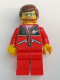 Minifig No: trn126  Name: Red Jacket with Zipper Pockets and Classic Space Logo, Red Legs, Reddish Brown Male Hair