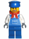 Minifig No: trn131  Name: Engineer Max with Dark Bluish Gray Hands