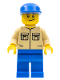 Minifig No: trn139  Name: Shirt with 2 Pockets No Collar, Blue Legs, Blue Cap