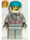 Minifig No: twn006  Name: Fire - City Center 2, Light Gray Legs, White Helmet, Visor (Spy Runner Pilot)