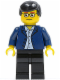 Minifig No: twn020  Name: Dark Blue Jacket, Light Blue Shirt, Black Legs, Square Glasses, Black Male Hair