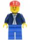 Minifig No: twn035  Name: Dark Blue Jacket, Light Blue Shirt, Blue Legs, Red Cap