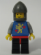 Minifig No: twn042  Name: Castle Guard, Lion with Hearts, Black Legs , Dark Gray Chin-Guard (Stickered Torso)