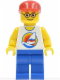 Minifig No: twn070  Name: Surfboard on Ocean - Blue Legs, Red Cap, Glasses (10184)