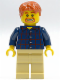 Minifig No: twn075  Name: Plaid Button Shirt, Tan Legs
