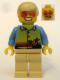 Minifig No: twn077  Name: Sunset and Palm Trees - Tan Legs, Red Glasses, Tan Male Hair