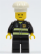 Minifig No: twn092  Name: Fire - Reflective Stripes, Black Legs, White Cook's Hat