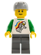 Minifig No: twn113  Name: Classic Space Minifig Floating Pattern, Dark Bluish Gray Legs, Sports Helmet