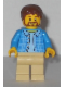 Minifig No: twn235  Name: Dad - Beard, Shirt with Buttons