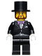 Minifig No: twn256  Name: Groom, Lavender Bow