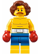 Minifig No: twn309  Name: Boxer, Wavy Reddish Brown Hair