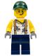 Minifig No: twn334  Name: Mechanic, Dark Green Cap, Dark Blue Legs