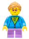 Minifig No: twn362  Name: Child Girl with Dark Azure Hoodie and Ponytail