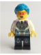 Minifig No: uagt029  Name: Agent Caila Phoenix - Dark Azure Hair