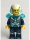 Minifig No: uagt030  Name: Agent Max Burns - Helmet and Armor, Dark Blue Arms