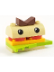 Minifig No: uni12  Name: Burger Person