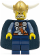 Minifig No: vik027  Name: Viking Blue Chess King - Horns Glued to Helmet