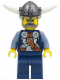 Minifig No: vik033  Name: Viking Blue Chess Bishop - Horns Glued to Helmet