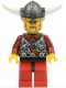Minifig No: vik034  Name: Viking Red Chess Pawn - Horns Glued to Helmet