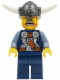 Minifig No: vik035  Name: Viking Blue Chess Pawn - Horns Glued to Helmet