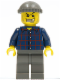 Minifig No: wc002  Name: Plaid Button Shirt, Dark Gray Legs, Dark Gray Knit Cap (Armored Car Bandit)