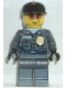 Minifig No: wc003  Name: Police - Security Guard, Dark Gray Legs, Dark Blue Cap
