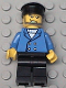 Minifig No: wc010  Name: Hovercraft Pilot, Blue Jacket, Black Hat