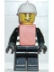 Minifig No: wc024  Name: Fire - Reflective Stripes, Black Legs, White Fire Helmet, Smile, Orange Vest