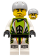 Minifig No: wr004  Name: Team X-treme Daredevil 1 (REX-treme) - Sports Helmet
