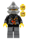 Minifig No: wr018  Name: Backyard Blaster 3 (Billy Bob Blaster) - Spiked Helmet