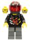 Minifig No: wr023  Name: Backyard Blaster 1 (Bart Blaster) - Standard Helmet, Trans-Red Visor