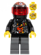 Minifig No: wr024  Name: Backyard Blaster 3 (Billy Bob Blaster) - Standard Helmet