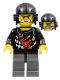 Minifig No: wr025  Name: Backyard Blaster 1 (Bart Blaster) - Aviator Helmet