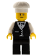 Minifig No: wtr005  Name: Town Vest Formal - Waiter with Chef's Hat