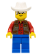 Minifig No: ww012  Name: Cowboy Red Shirt
