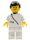 Minifig No: zip018  Name: Jacket with Zipper - White, White Legs, Black Male Hair