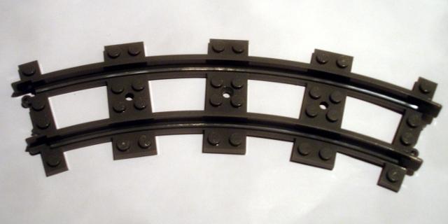Lego Train, Track Plastic, Narrow, Curve