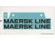 Part No: 10155stk03  Name: Sticker for Set 10155 - Sheet 3, Large Maersk Line Stickers for Hull (57337/4585631)