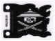 Part No: 24724  Name: Plastic Flag 7 x 5 with White Ninjago Pirate on Black Background Pattern