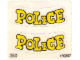 Part No: 350.3stk02  Name: Sticker for Set 350-3 - Sheet 2 'POLICE' for Paddywagon Doors (190267)