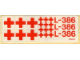Part No: 386stk01  Name: Sticker for Set 386 - (004631)